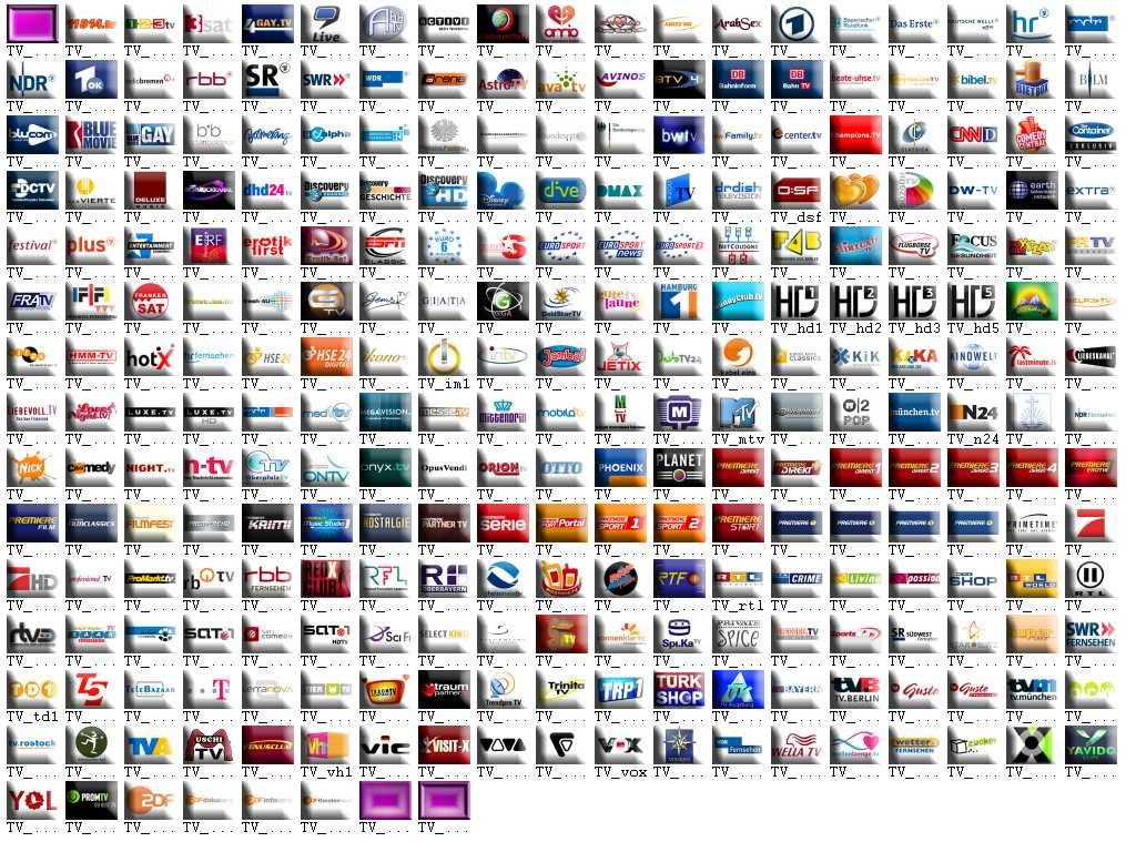 television set logos