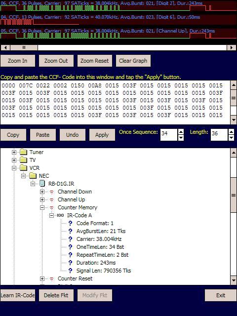 IR Database Editor