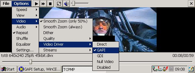 Pocket PC software with GAPI how to use on wince5 arm TCPMP_GAPI
